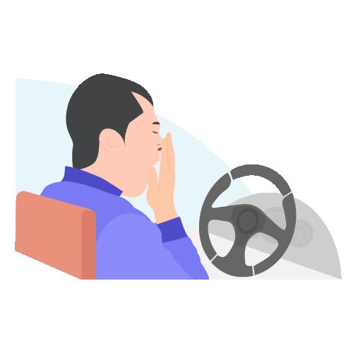Microsleep whilst driving